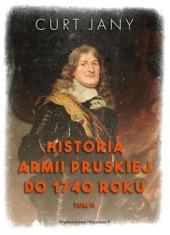 Historia armii pruskiej do 1740 - okładka książki