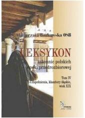 Leksykon zakonnic polskich epoki - okładka książki
