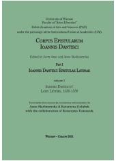 Ioannes Dantiscus Latin Letters, - okładka książki